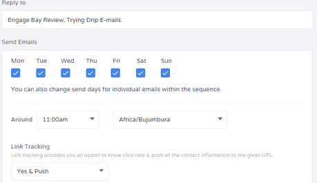 EngageBay Drip Emails