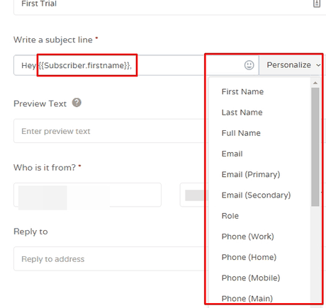 EngageBay Email Personalization