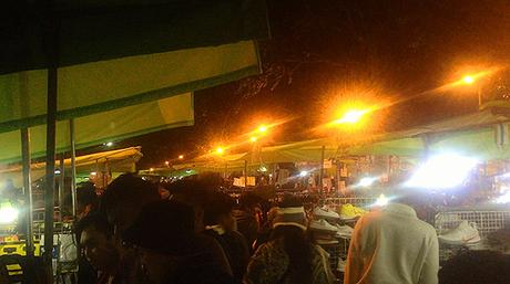 Baguio night market at Harrison Rd