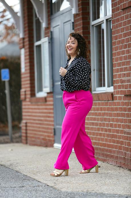 Wide Leg Pants with Sneakers and Heels