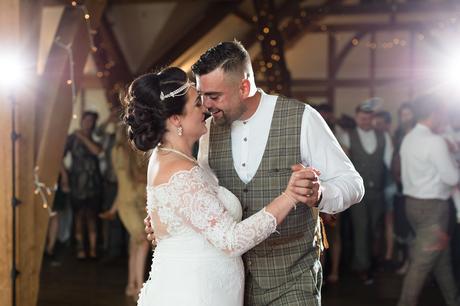 First Dance at Sandburn Hall wedding.