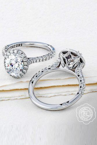 tacori engagement rings white gold engagement rings diamond halo engagement rings beautiful rings tacoriofficial