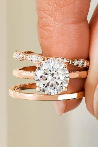 tacori engagement rings rose gold engagement rings diamond engagement rings round cut engagement rings tacoriofficial
