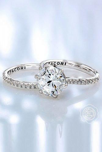 tacori engagement rings white gold engagement rings round diamond engagement rings unique engagement rings tacoriofficial
