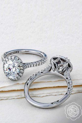 tacori engagement rings white gold engagement rings diamond engagement rings round cut engagement rings halo rings tacoriofficial