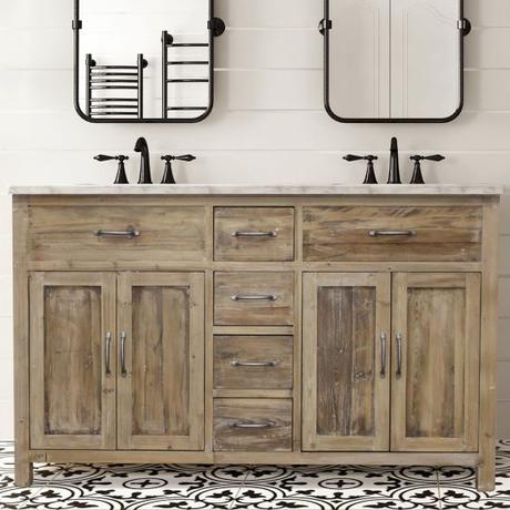 Distressing Techniques: How to Distress Bathroom Cabinets and Vanities
