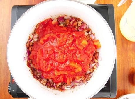 Vegetarian Taco Soup with Roasted Tomato Salsa