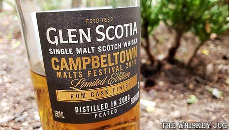 Glen Scotia Rum Cask Finish - Campbeltown Festival 2019 Label