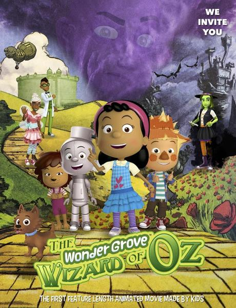 To celebrate the 81st anniversary of The Wizard of Oz Wonder Media collaborated with 24 school districts in 10 states to produce an animated adaptation of the most popular movie of all time. It's called the The WonderGrove Wizard of Oz and it's the first feature length animated movie made by kids.