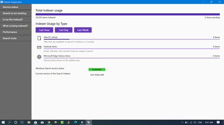 Download Indexer Diagnostics App for Windows 10 from Microsoft Store