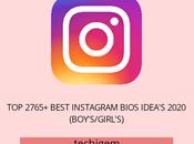 2765+ Best Instagram Bios Idea's January 2020 (Boy's/Girl's)