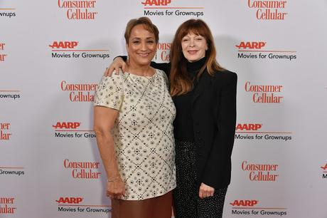 Linda Ronstadt (R) accepts Best Documentary for 'Linda Ronstadt: The Sound of My Voice' from Maria Muldaur onstage during AARP The Magazine's 19th Annual Movies For Grownups Awards at Beverly Wilshire, A Four Seasons Hotel on January 11, 2020 in Beverly Hills, California.