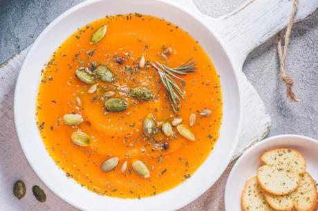 Vegetarian White Bean Soup with Pumpkin