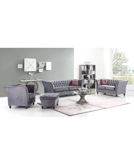 grey velvet settee sofa sets transitional set ottoman