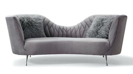 grey velvet settee loveseat sofa