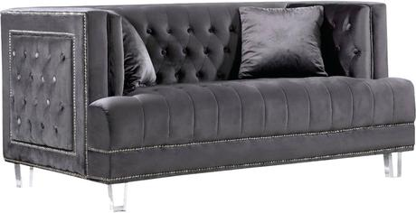grey velvet settee crushed sofa living room ideas by meridian furniture