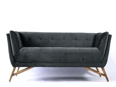 grey velvet settee sofa dfs dark