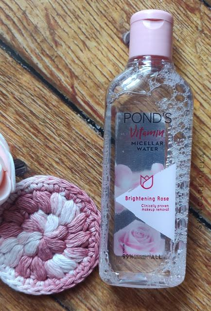 Ponds Vitamin Micellar Water Brightening Rose Review