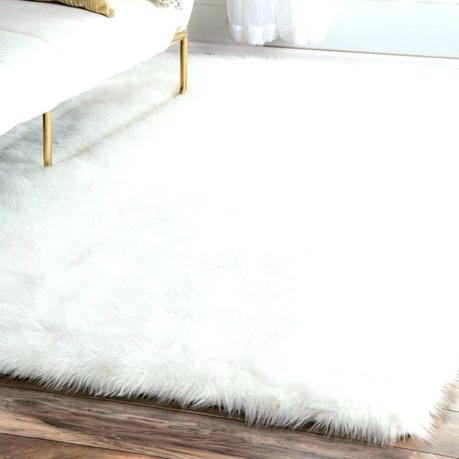 faux shearling rug sheepskin big white fur