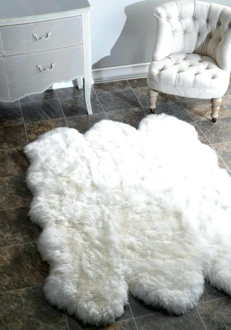 faux shearling rug sheepskin white flooring comfy for floor decor ideas
