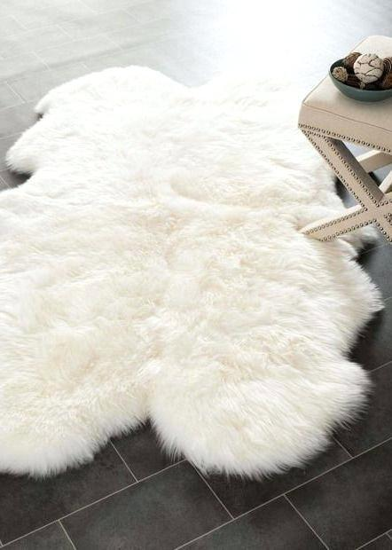faux shearling rug lambskin white pin on home sweet