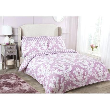 purple lilac bedding quilt covers damask double duvet set twin pack mauve