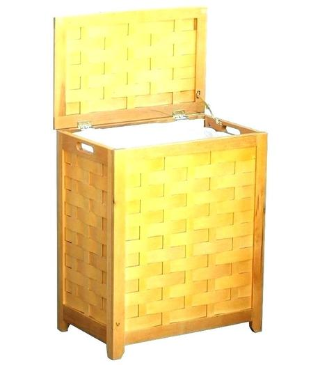 wooden clothes hampers wood hamper with lid white laundry