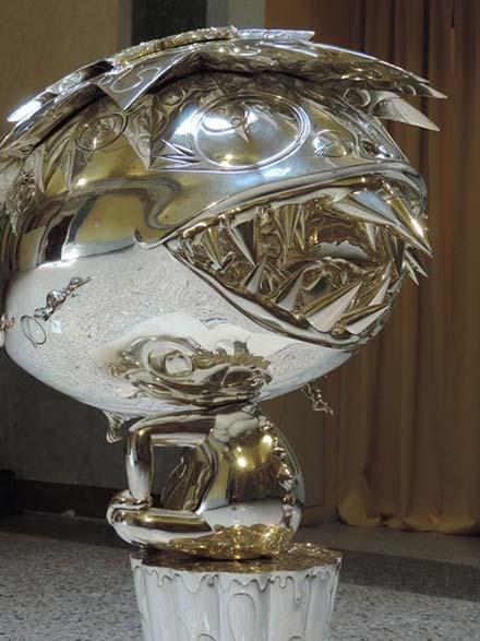 32 Oval Buddha silver b