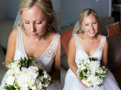 Portraits of beautiful blonde bride with freckles at Asylum wedding.