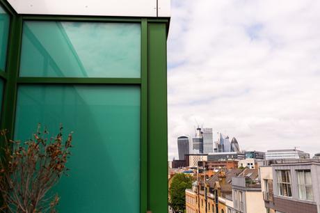 London skyline including the Gherkin and the Fridge.