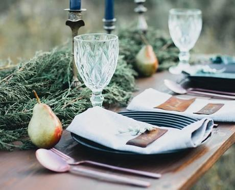small wedding party casual outdoor wedding dinner