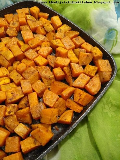 PATATES DOUCES RÔTIES / ROASTED SWEET POTATOES / BATATAS AL HORNO /بطاطا حلوة مشوية في الفرن