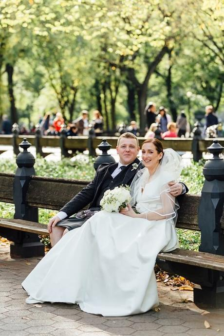 Laura and Alan's Wedding Blessing at Bethesda Fountain