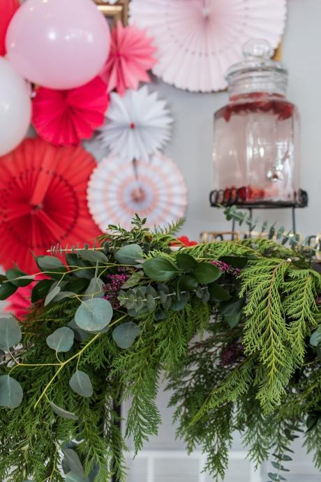 DIY Asymmetrical Bar Cart Garland