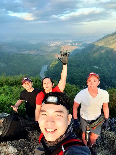 group selfie at Mt. Binacayan summit