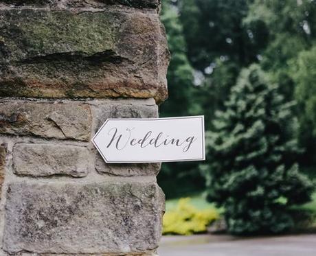 religious wedding programs wedding sign