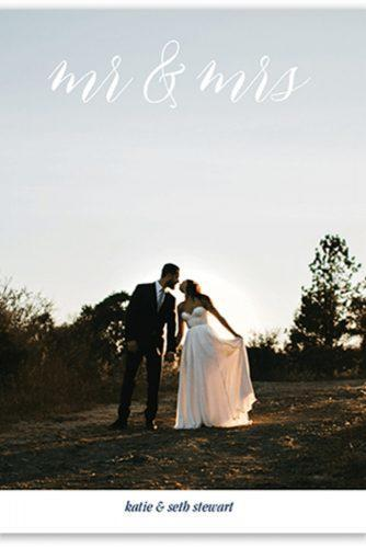wedding thank you cards wording example with photo