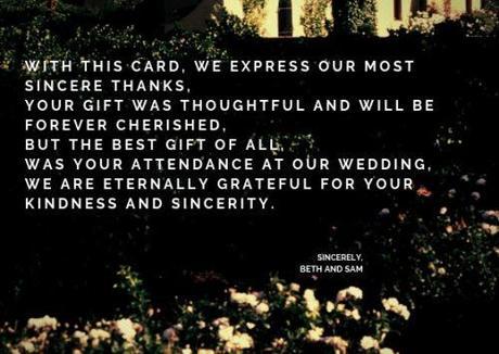 wedding thank you cards wording elegant wedding thank you cards