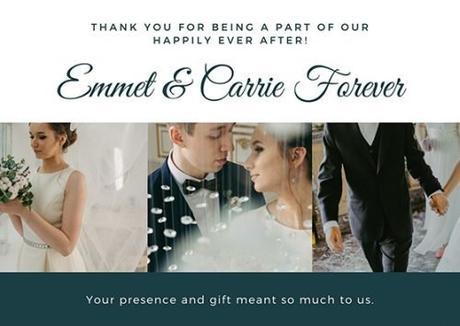 wedding thank you card for money