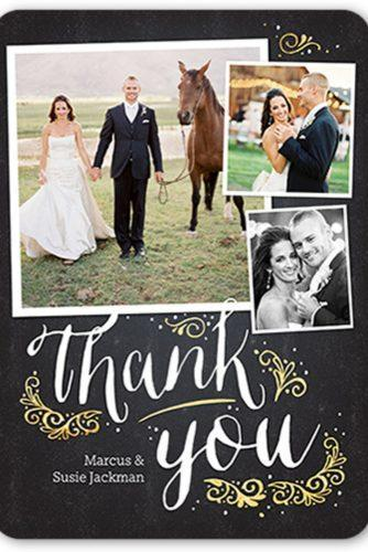 wedding thank you cards wording card with photo