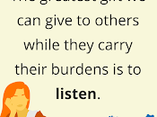 Bearing Another's Burdens Listening Without Judgement