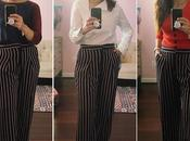 Three Ways Striped High Waist Trousers