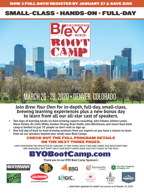 Brew Your Own Boot Camp is Coming to Denver!