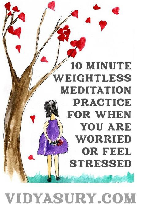 10 minute weightless meditation when you are worried or stressed