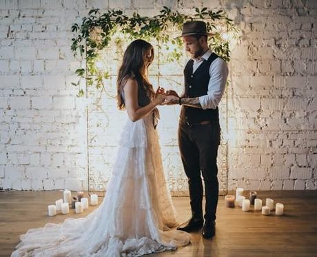 unique wedding readings boho bride and groom