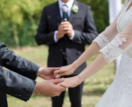 unique wedding readings wedding ceremony bride groom holding hands