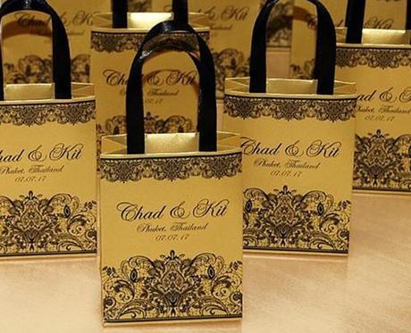 wedding gift bag ideas bag with ribbon handles