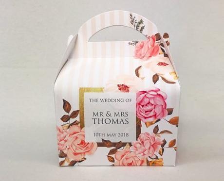 wedding gift bag ideas romantic floral bag