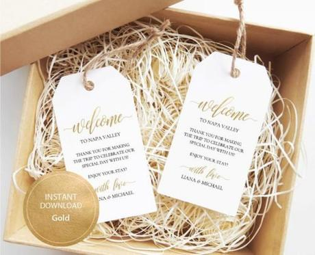 wedding gift bag ideas box tags