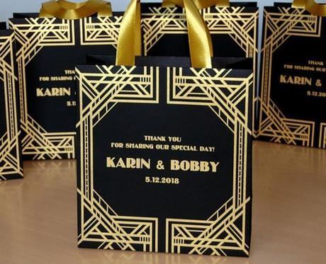 wedding gift bag ideas gatsby theme bag
